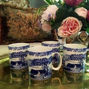 Spode Blue Italian Coffee Cups